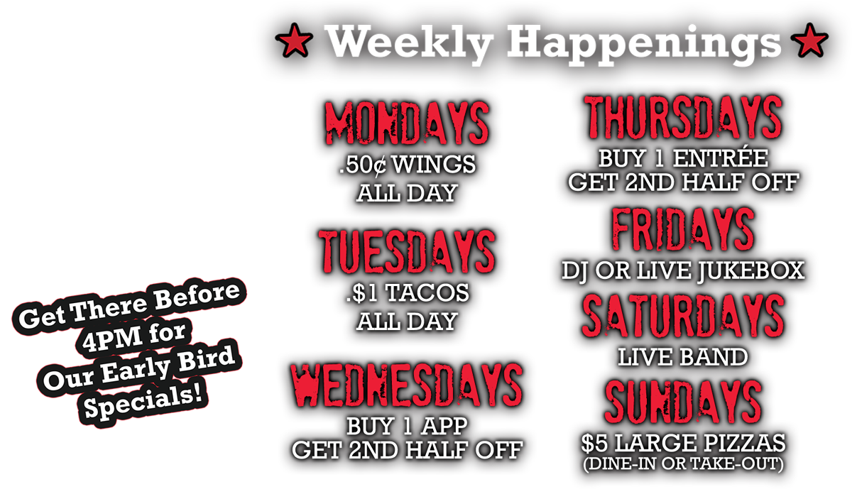 Weekly Happenings at Playoffs Sports Bar Billerica
